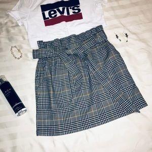 NWOT High Waist Skirt With Belt & Pockets